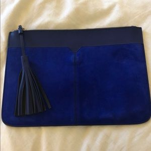 J. Crew Suede and Leather Clutch